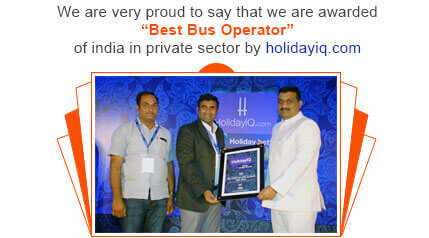 Orange Tours & Travels - Best Bus Operator Award By HolidayIQ